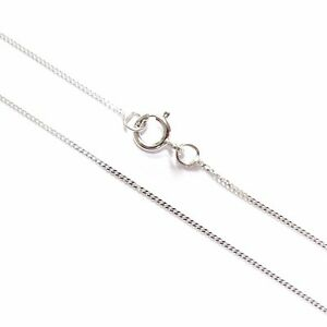 9ct-White-Gold-Fine-Lightweight-Diamond-Cut-Curb-Chain-Necklace-16-034-18-034-20-034