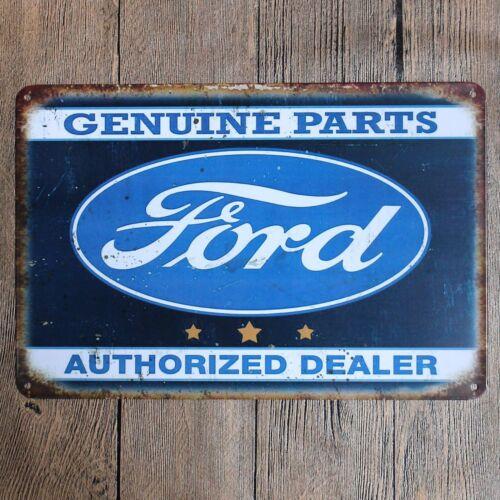 Metal Tin Sign Genuine Parts Décor Bar Pub Accueil Rétro Vintage Poster CAFE