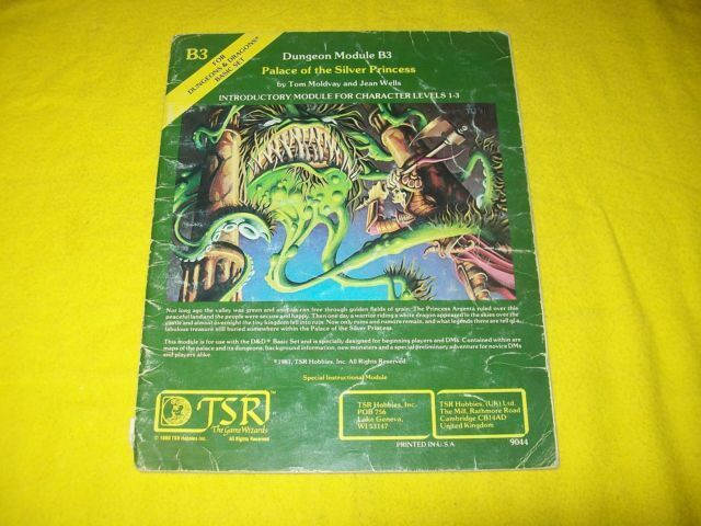 Palace Of The Silver Princess Basic Dungeons Dragons Rpg Tsr 1981 B3 9044 For Sale Online Ebay