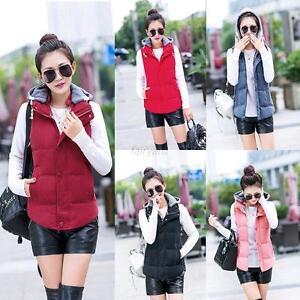 Women-Winter-Warm-Slim-Down-Cotton-Jacket-Sleeveless-Hooded-Vest-Waistcoat-Coat