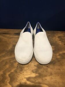 Rothy's Bright White Women's Slip-on Sneakers Size 8.5 Shoes - Textile Upper
