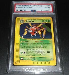 PSA-9-MINT-Ariados-H3-H32-Aquapolis-HOLO-RARE-Pokemon-Card