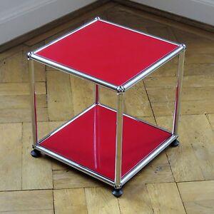 Nachttisch Rot usm haller tv beistelltisch 35x35x35 rot couchtisch nachttisch