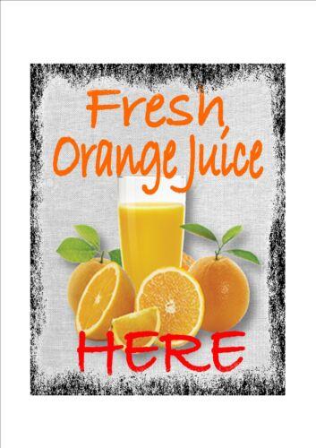 Cafe Sign Vintage Style Cafe Sign Shop Sign Orange Juice Sign Fresh Fruit Sign