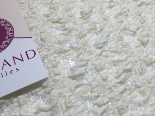 Cream Floral Vintage Victorian Stretch Raschel lace 55 Inches Wide M186-9 Mtex
