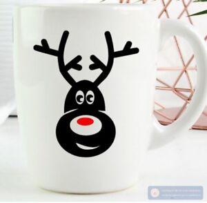 Christmas Mug Sticker Rudolph The Red Nose Reindeer