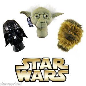 Neuf-Officiel-Star-Wars-Yoda-Golf-Putter-Secours-ou-Hybride-Bois-Capuchon