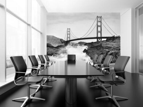 High Quality non-woven wallpaper mural bedroom  livingroom Golden Gate Bridge