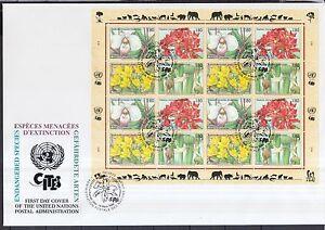 ONU Genève 1996 FDC MiNr. 288-291 espèces menacées ZD-Arc-afficher le titre d`origine O0KdKvod-07154115-497559557