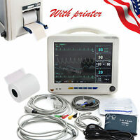 Us Ship 12 Icu Ccu Multiparameter Patient Monitor With Printer 2 Years Warranty