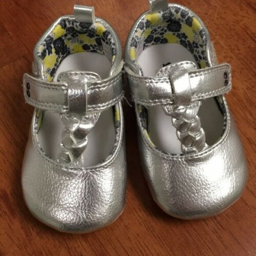 Baby Girls Sneaker Shoes Silver Sparkle Sugar 06M 12-18M Stride Rite #r4