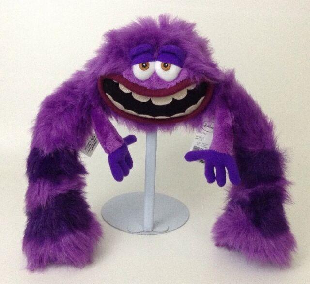 "Disney Collection Monsters University Stuffed PLUSH  Purple ART  14"" Oozma Kappa"