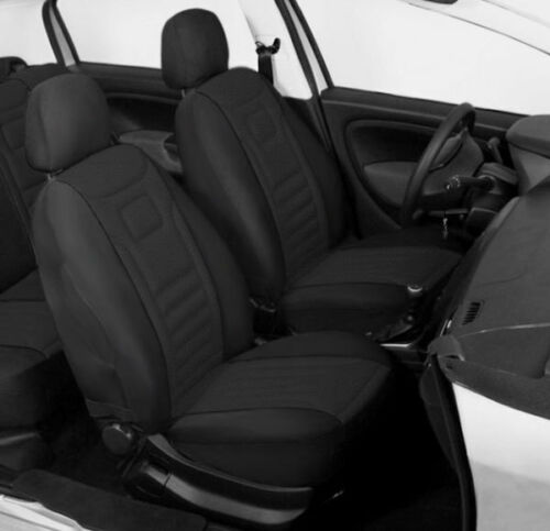 2 BLACK HIGH QUALITY FRONT CAR SEAT COVERS PROTECTORS FOR HYUNDAI I20