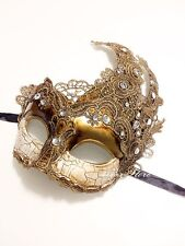 Toga Party Special - Venetian Goddess Masquerade Mask Made of Resin - Gold