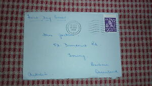 1958-IRELAND-FIRST-DAY-COVER-FDC-BELFAST-to-AUSTRALIA