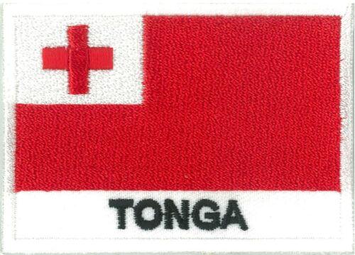 Ecusson patche patch insigne drapeau TONGA 70 x 45 mm brodé à coudre