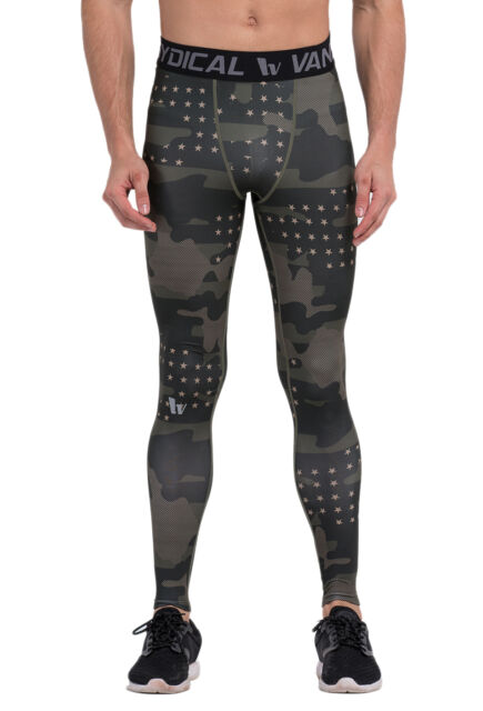 Mens Compression Tights Workout Training Leggings Running Gym Thermal Base Layer