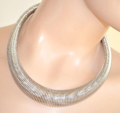 Collana girocollo ARGENTO donna metallo elegante da cerimonia necklace 580