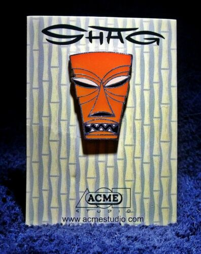 "NEW SHAG Rare 2002 ""BROWN TIKI"" Limited Edition ACME STUDIO Cloisonné PIN"