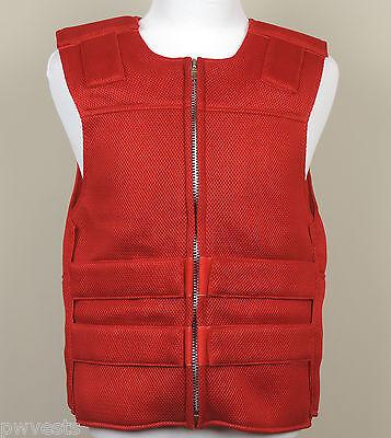 RED - Mesh - Bulletproof Style Motorcycle Vest