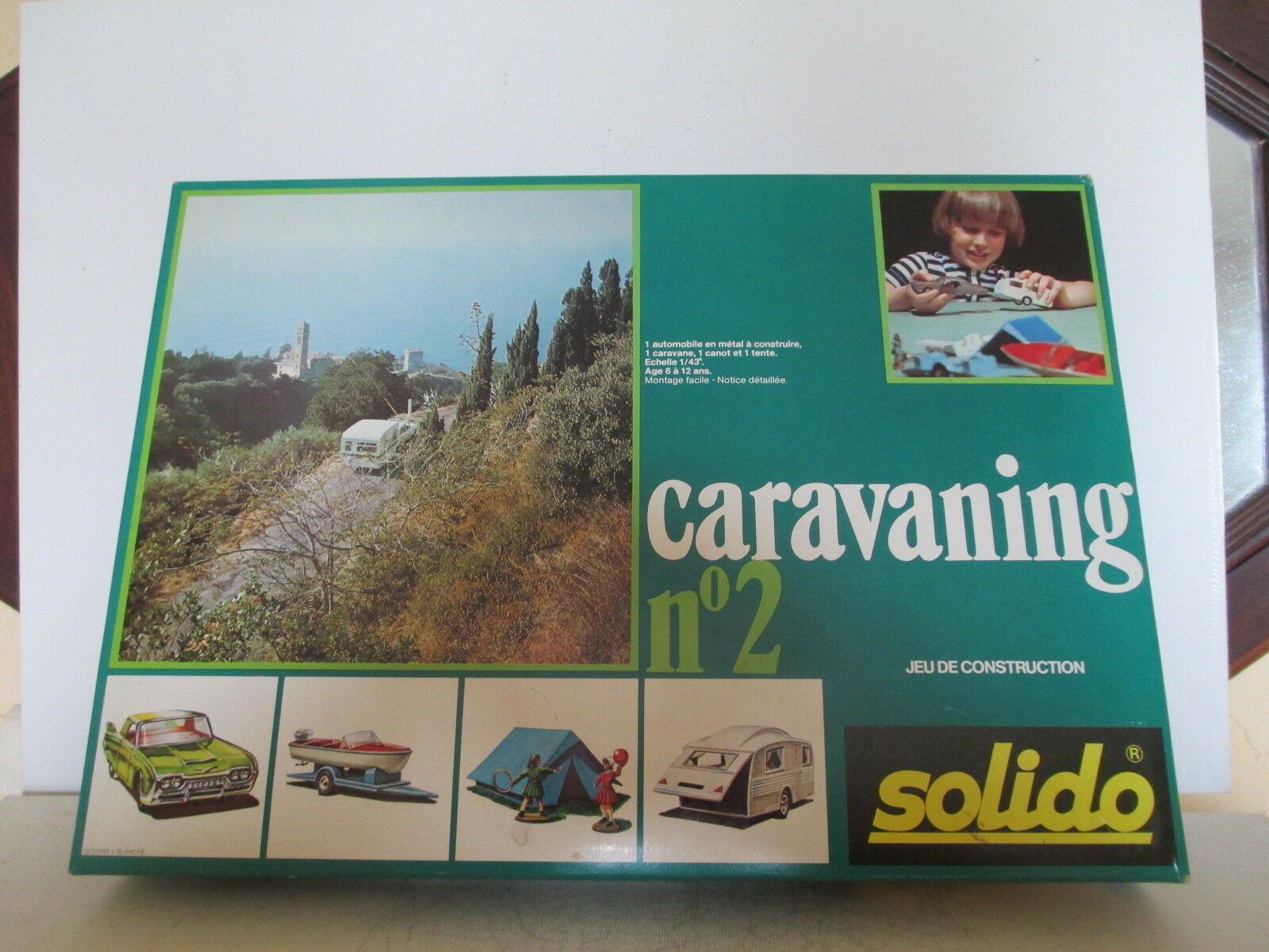 Solido caravaning detachable 434 boxed 2 mib rare never opened never opened