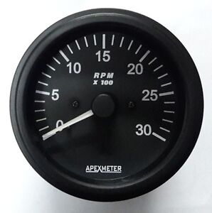 Tachometer-0-3000-RPM-Ignition-Coil-Driven-Gauge-Black-Bezel-12V