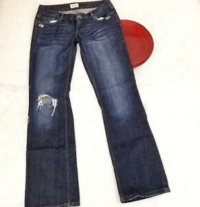 Aeropostale-Womens-Jeans-Size-9-10-Indigo-Distressed-Low-Rise-Chelsea-Boot-Cut