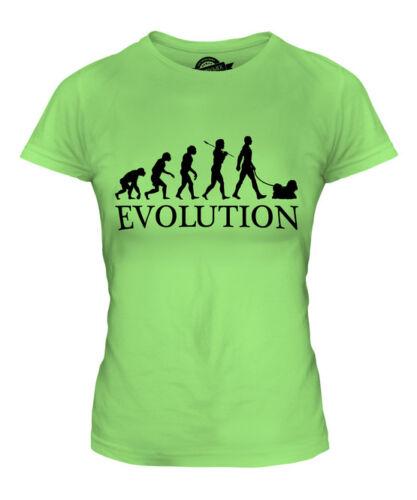 SHIH TZU EVOLUTION OF MAN LADIES T-SHIRT TEE TOP DOG LOVER GIFT WALKER WALKING
