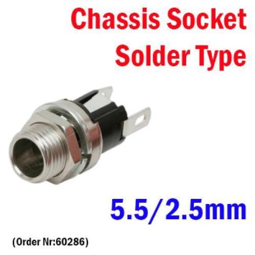 DC Chassis Plug//Socket 2.35//3.5//3.8//4//5.5//6.3//0.7//1.0//1.3//1.7//2.1//2.5//3.1mm