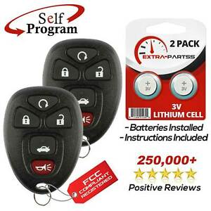2 For 2006 2007 2008 2009 2010 2011 2012 2013 Chevrolet Impala Remote Key Fob