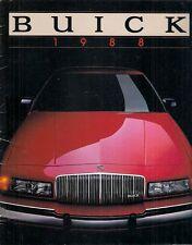 Buick 1988 USA Market Brochure Skylark Century Regal LeSabre Electra Riviera