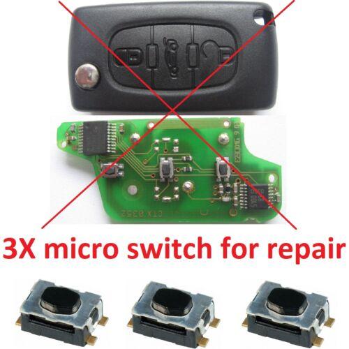 citroen c1 c2 c3 c4 c5 c8 picasso pulsante per la riparazione chiave telecomando