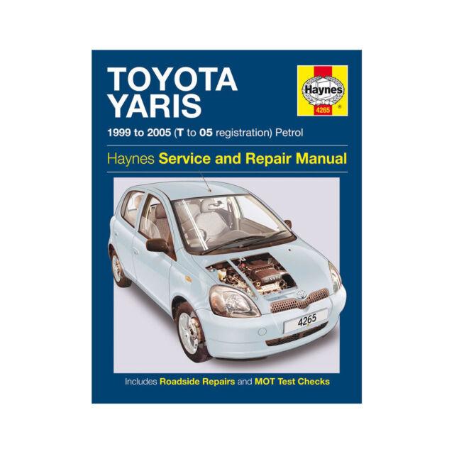 haynes workshop repair manual toyota yaris 99 05 ebay