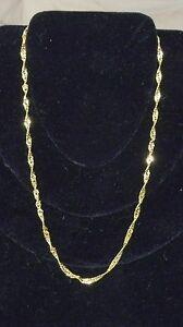 16-Inch-18k-Gold-Plated-Chain-Necklace-Chain