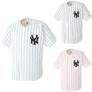 NY New York Yankees Slim Baseball Jersey Open T-Shirts Team Sports ... d1113bbf4d1