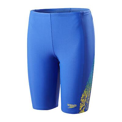 Speedo Lightning Spruzza Panel Jammer Ragazzi Amparo Blu Swim Shorts-mostra Il Titolo Originale