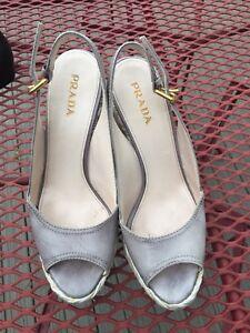 7defd7a2bff Image is loading Prada-Leather-espadrille-Wedge-Platform-Degrade-Shoes-Size-