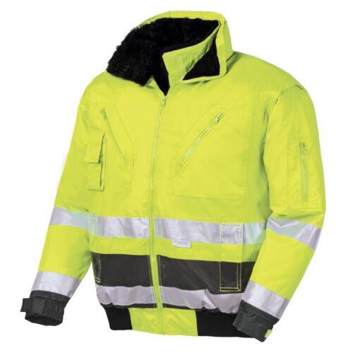 Texxor Warning Protection Pilot Jacket Work Jacket Winter Jacket VANCOUVER Fluorescent Yellow