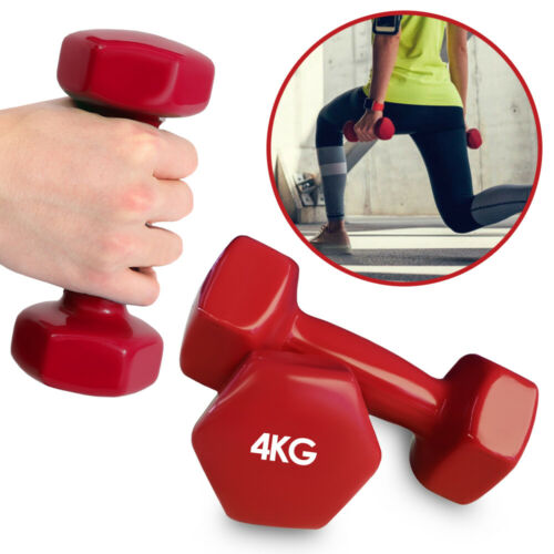 2x hantelset Fitness Dumbbells Aerobic Weight Dumbbells Dumbbell Mini Red 4kg