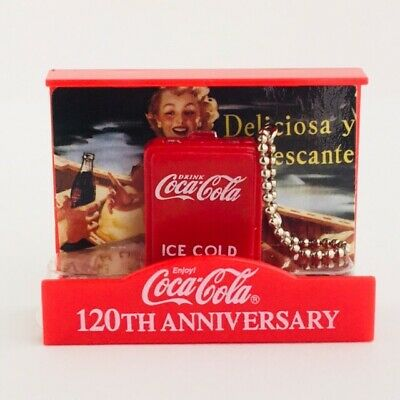 Coca Cola Memorial Figure Collection Bottle Cooler 120th Anniversary Japan 2006
