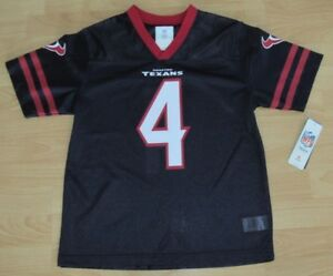 Image is loading Houston-Texans-Deshaun-Watson-4-Football-Jersey-size- 98e8187dd