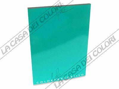 Top Quality - Coloreassortito - Verde Acqua - Quaderno A4 - Rigo 10m (q. 10 Mm)
