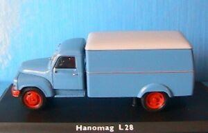 HANOMAG-L28-KOFFER-LKW-SCHUCO-02931-1-43-KASTENWAGEN-CAMION-TOLE-TRUCK