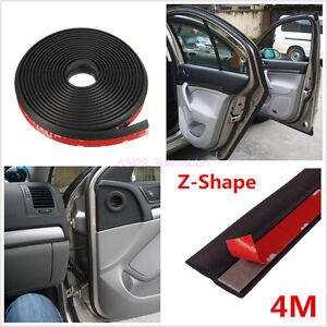 4m Z type Rubber Seal Weatherstrip Edge Trim Sound Insulation 3M Car Door Strip