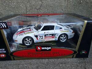 Bburago-1993-Porsche-911-Carrera-Racing-Coupe-1-18-Scale-Diecast-Model-Race-Car