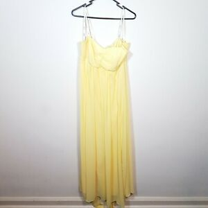 New-PacoPM-Ladies-Bridesmaid-Formal-Yellow-Dress-BNWT-NWT-RRP-310-Size-16