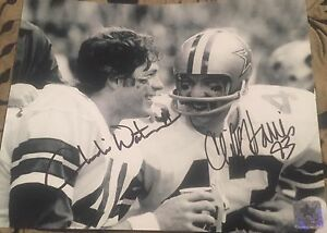 CLIFF-HARRIS-amp-CHARLIE-WATERS-Dallas-Cowboys-8x10-Photo-Autographed-Gdst-Holo