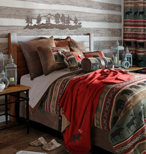 Backwoods Cabin Rustic Comforter Set with FREE Valance and Shipping!