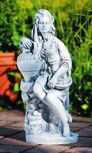 Putte-034-FRUTTINA-034-45-cm-Gartenfigur-aus-Kunststoff-in-Steinnachbildung
