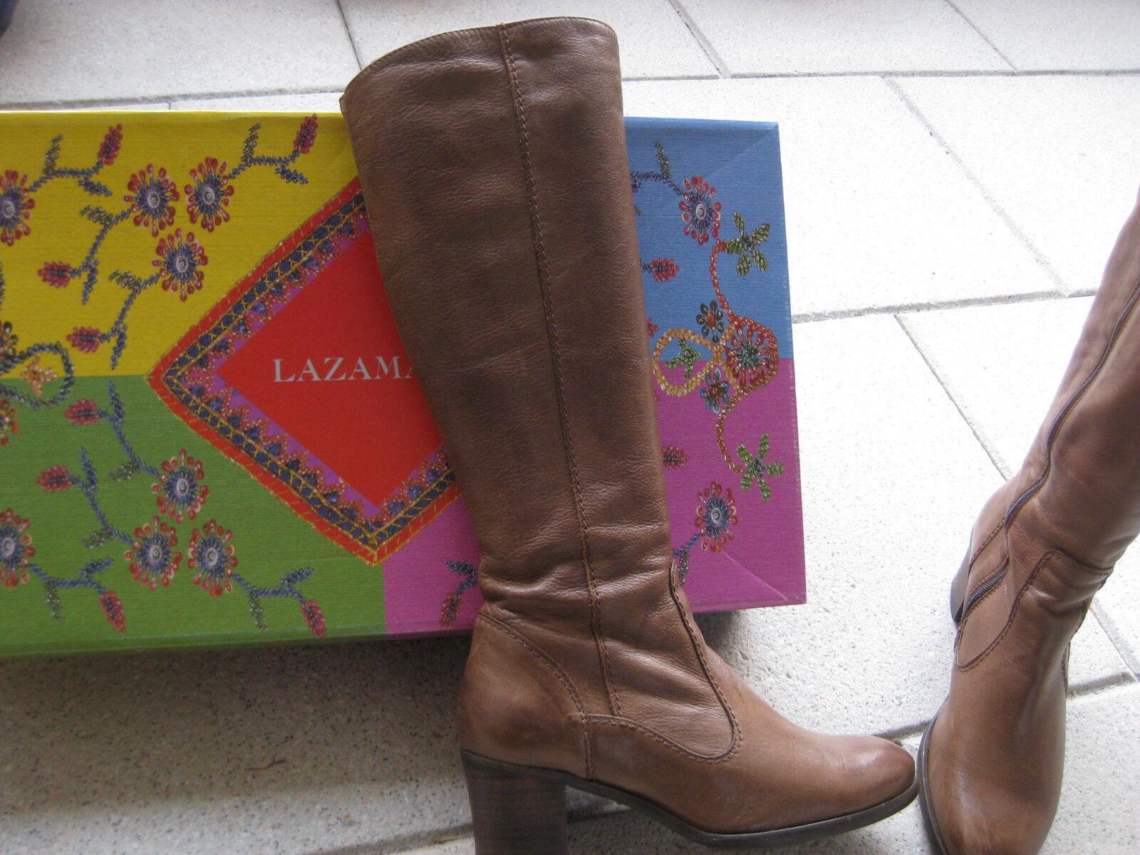 Lazamani 41 Damen Stiefel Boots Gr. 41 Lazamani braun taupe Leder innen außen Top Zustand 00aae1